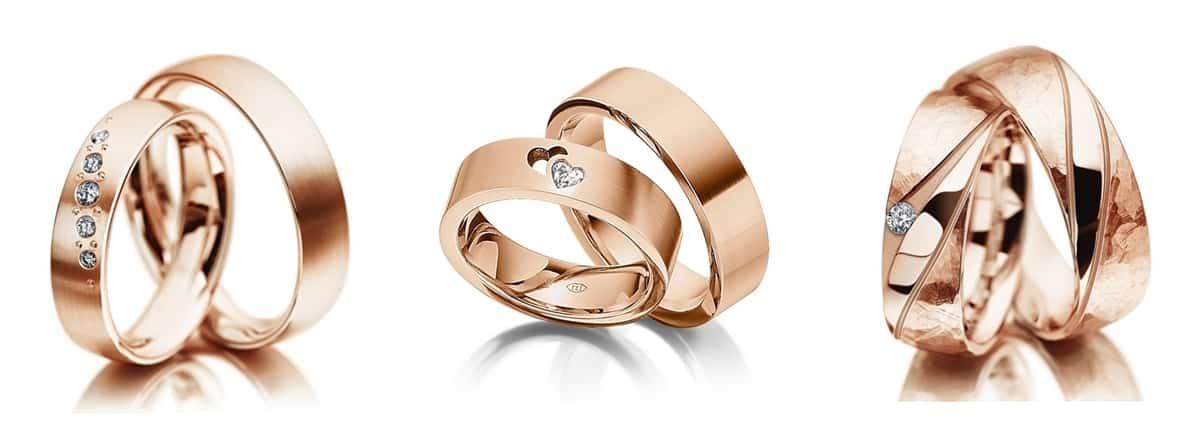 rozé arany karikagyűrű