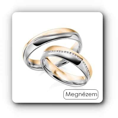 többszínű arany karikagyűrű
