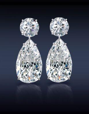 gyémánt fülbevaló