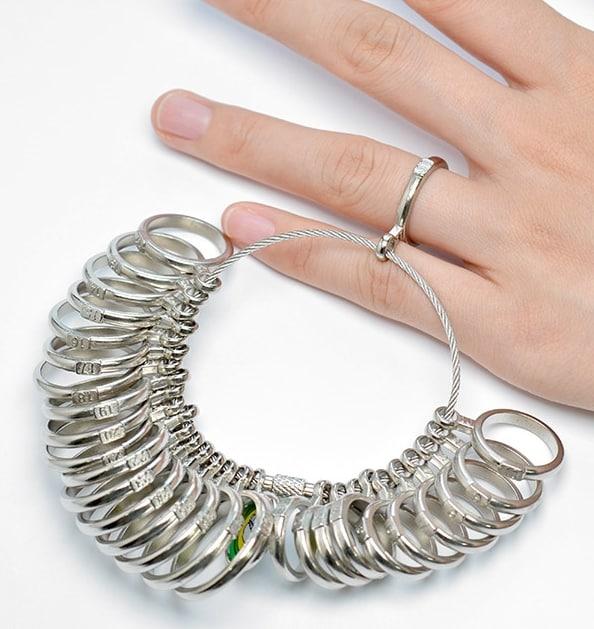 gyűrű méret meghatározás